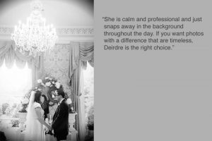 Shelbourne Hotel Wedding Photographer Testimonial