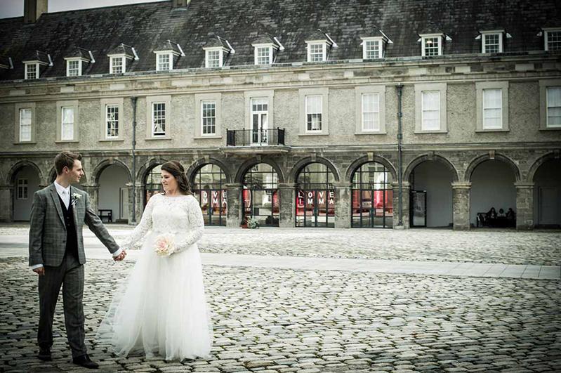 A Dublin Wedding Photograph in The Grounds Of The Royal Hospital Kilmainham