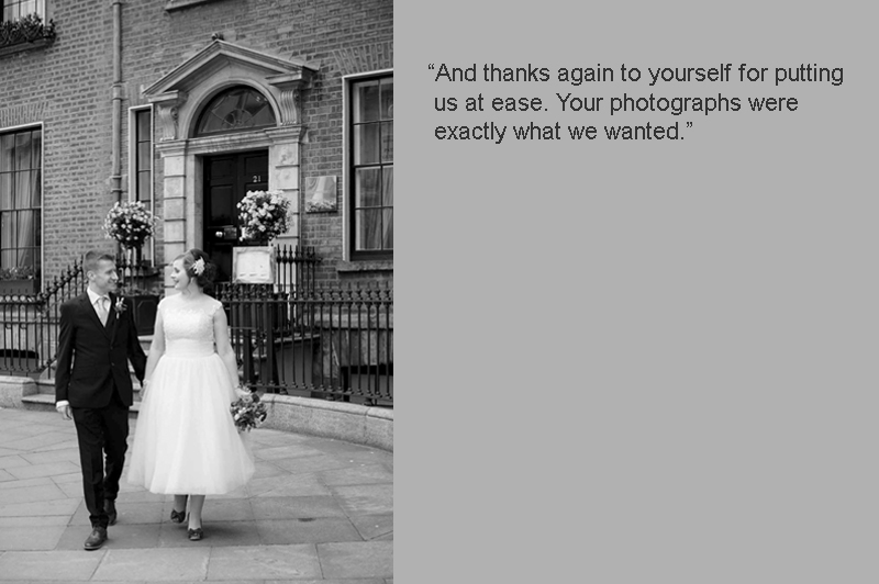 Dublin City Centre Wedding Photo