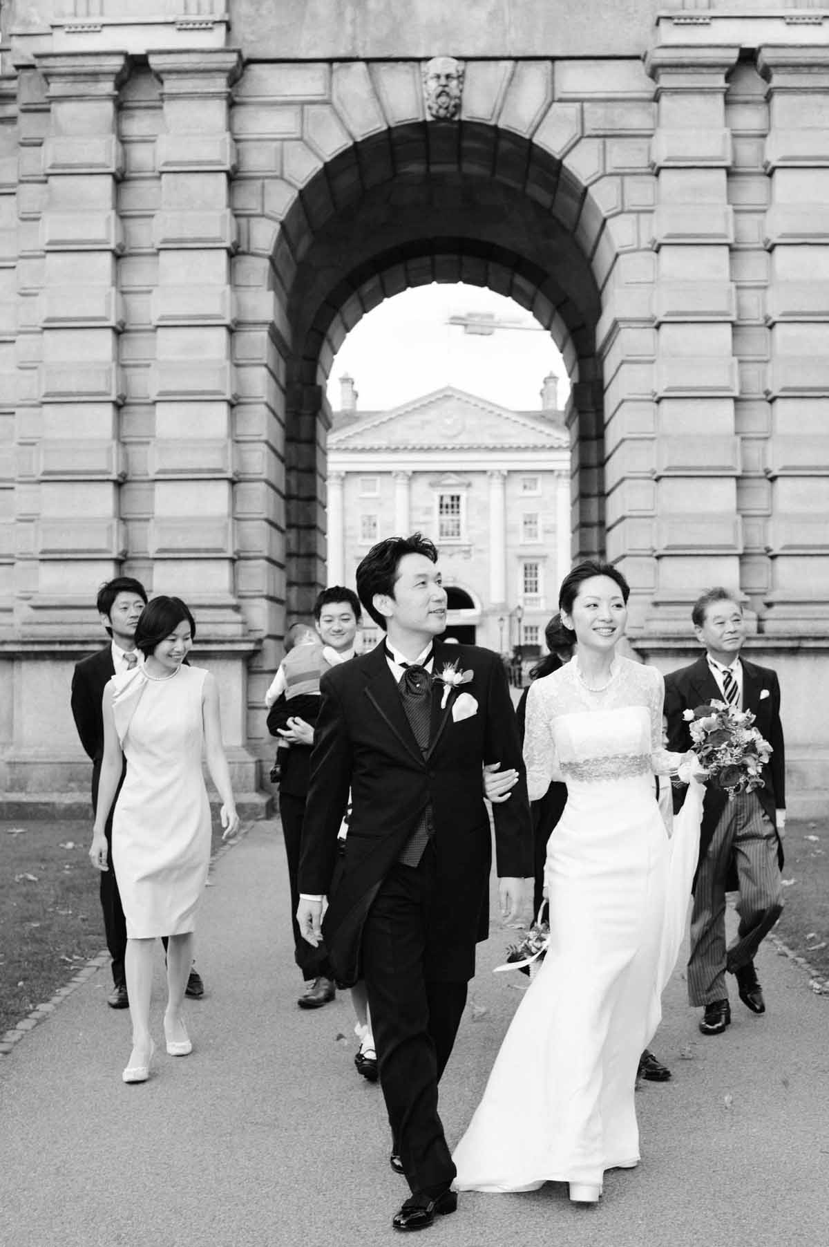 Dublin City Wedding Photography in the grounds of Trinity College