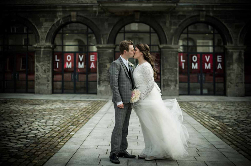 Dublin Wedding Photograph in the grounds of The Royal Hospital Kilmainham