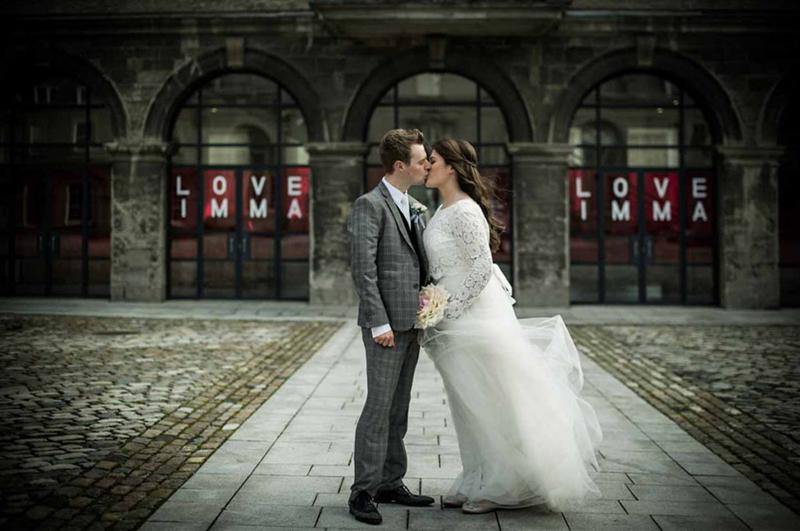 Dublin Wedding Photograph in the grounds of The Royal Hospital Kilmainham
