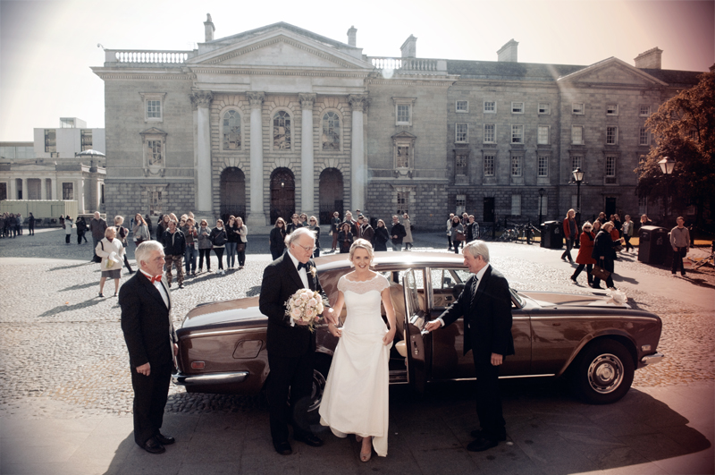 Photo of a Dublin Wedding at Trinity College Chapel