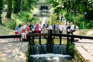 Wedding Photograph on the Grand Canal in Dublin