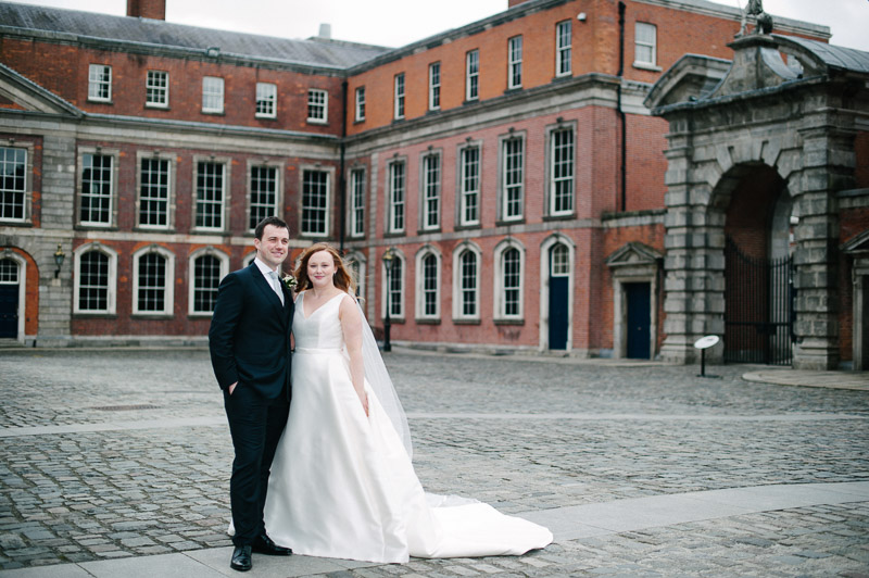 Wedding Photography in the grounds of Dublin Castle