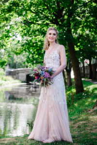 A Bridal Portrait on The Banks Of The Grand Canal in Dublin