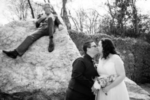 LGBT Wedding Photographer in Dublin photographs a couple at the