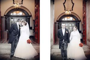 Wedding Photograph outside St Ann's Church Dawson Street Dublin