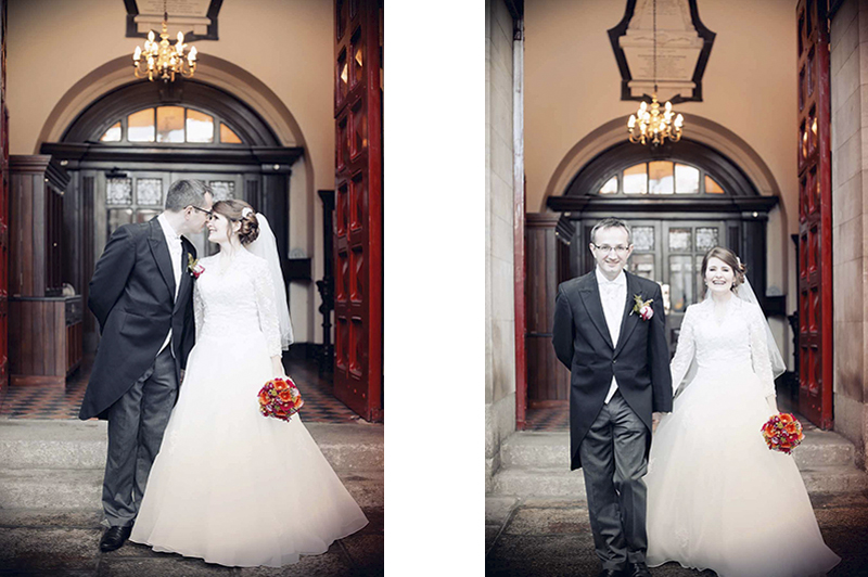 Wedding Photograph outside St Ann's Church Dawson Street Dublin