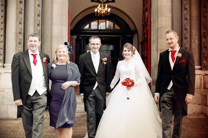 Wedding Photographs outside St Ann's Church Dawson Street Dublin