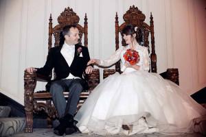 Wedding photo in Clontarf Castle