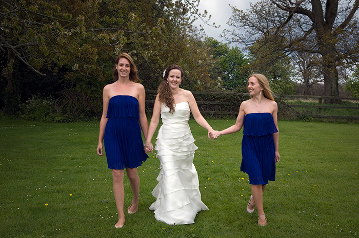Bridal Party photograph in the grounds of Leixlip Manor