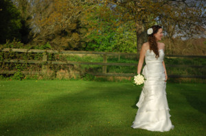 Bridal portrait in the grounds of leixlip manor