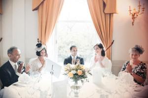 A wedding reception at The Hibernian Clun on St. Stephen's Green