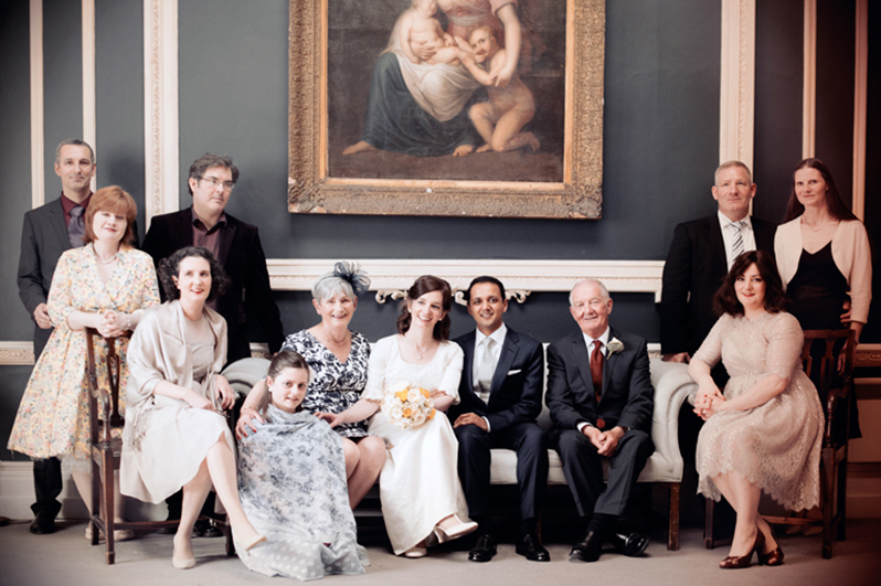 Family Wedding photograph at the St. Stephen's Green Hibernian Club