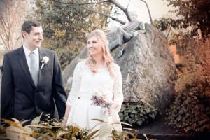 Wedding photo in Merrion Square Park Dublin