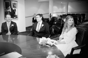 Wedding Ceremony at The Dublin Registry Office