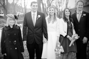 Family Wedding Photograph at The Dublin Registry Office