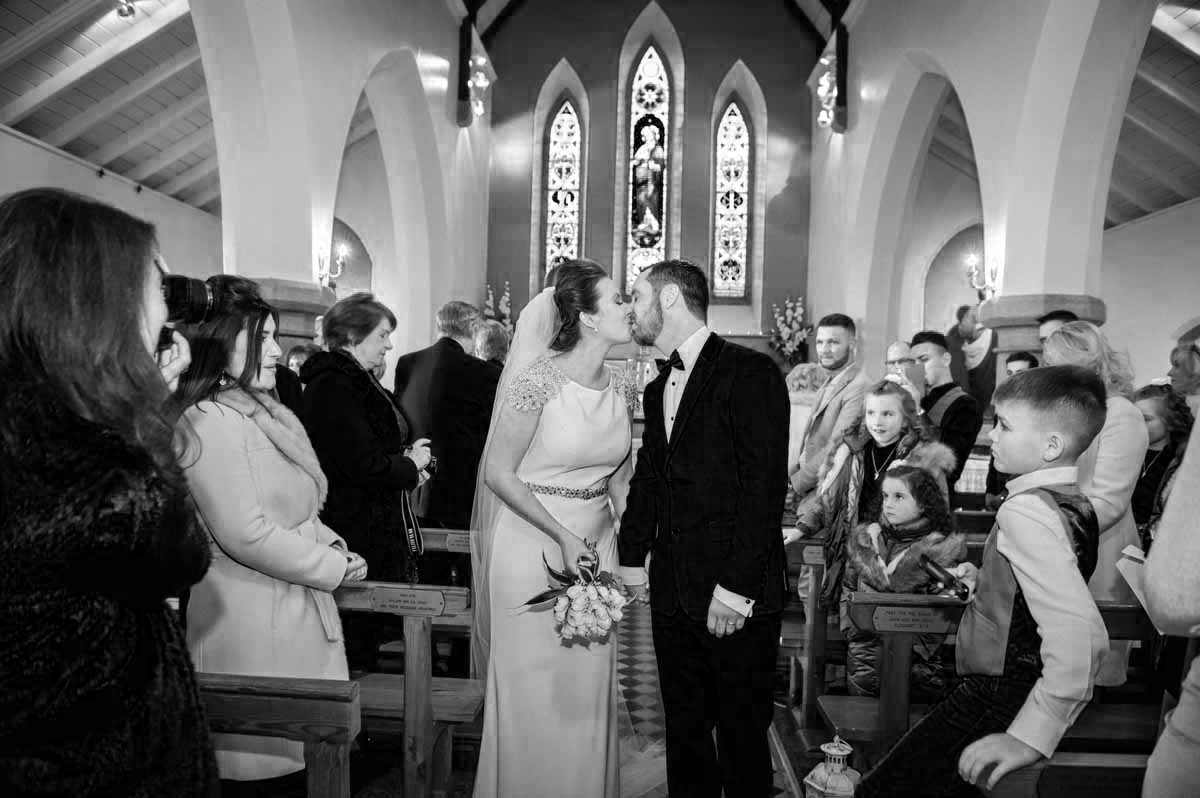 Irish Church Wedding Photograph