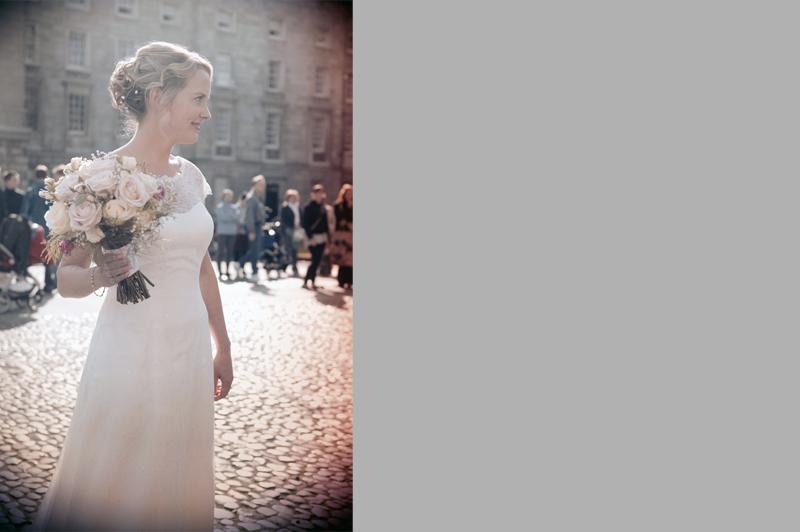 Bridal portrait in Trinity College Dublin