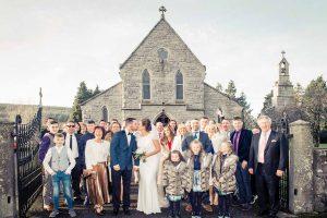 Irish Church Wedding Photograph