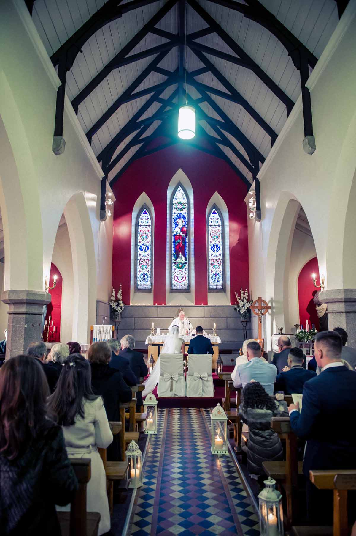 Irish Country Church Wedding Photo