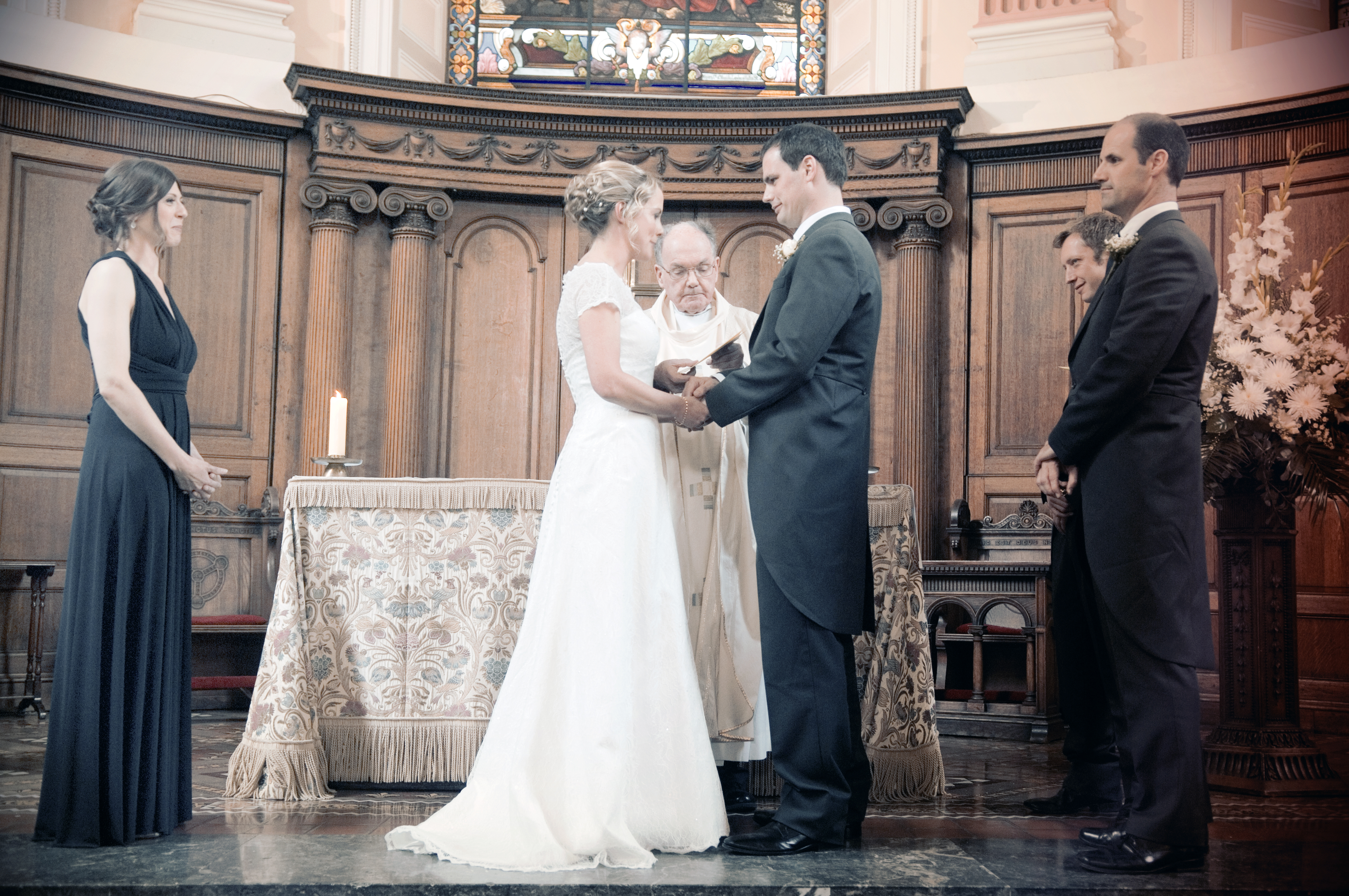 Photo of Wedding Ceremony at Trinity College Chapel
