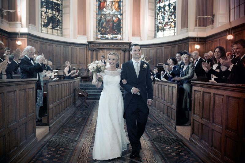 Trinity College Chapel Dublin Wedding Photograph