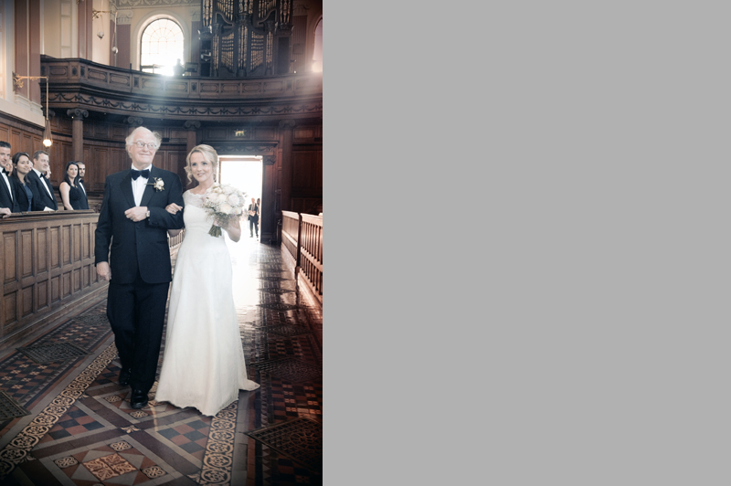Wedding Photograph In Trinity College Chapel