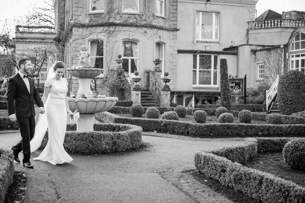 Wedding Photos in the grounds of Finnstown Country House Hotel