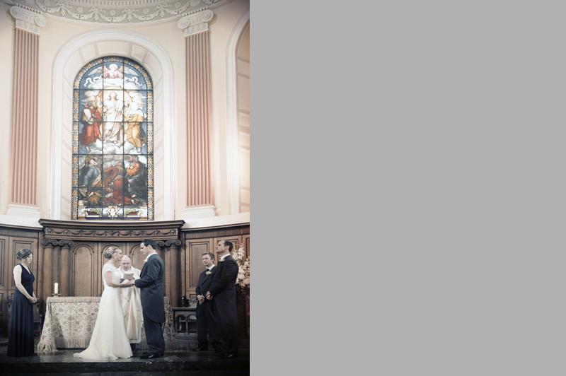 Wedding photo at Trinity Chapel Dublin