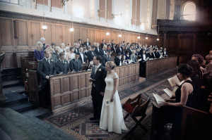 Wedding photo in Trinity College Chapel