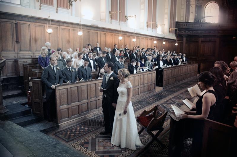 Wedding photo in Trinity College Chapel