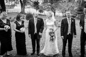 Bridal party photograph at Tinakillly House Hotel