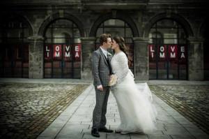Wedding photograph at IMMA in Dublin