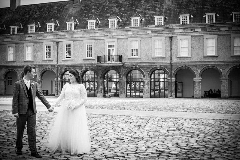 Wedding photograph in the grounds of IMMA