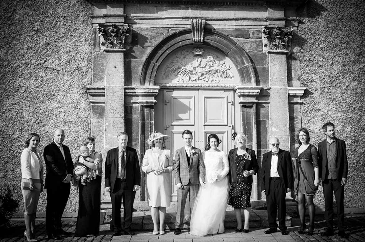 family wedding photograph at Imma