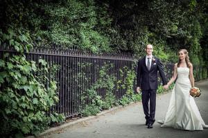 A wedding photograph in Dublin City Centre