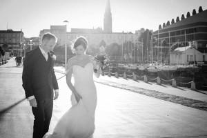 Dun Laoghaire Pier Wedding Photograph