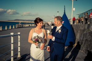 Wedding Photograph on Dun Laoghaire Pier