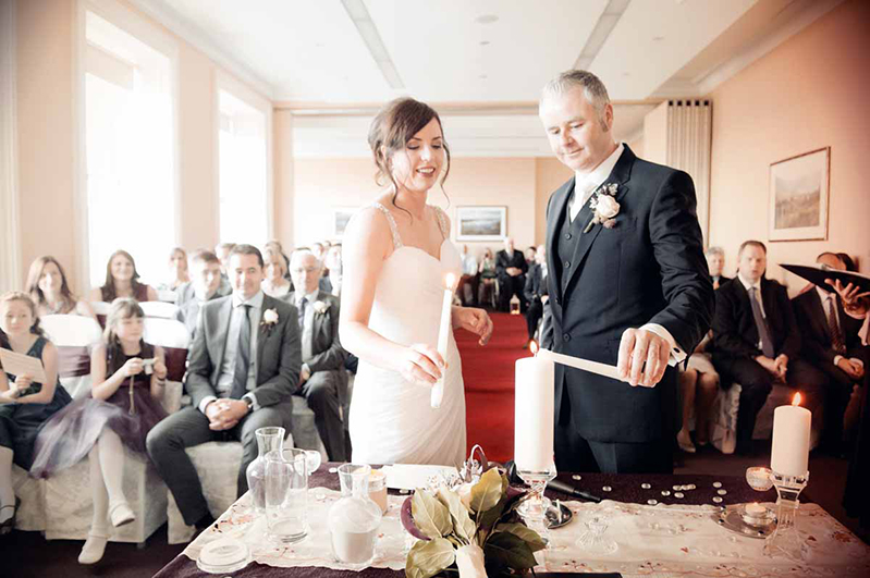 Wedding Ceremony Photograph at Royal Marine Hotel in Dun Laoghaire
