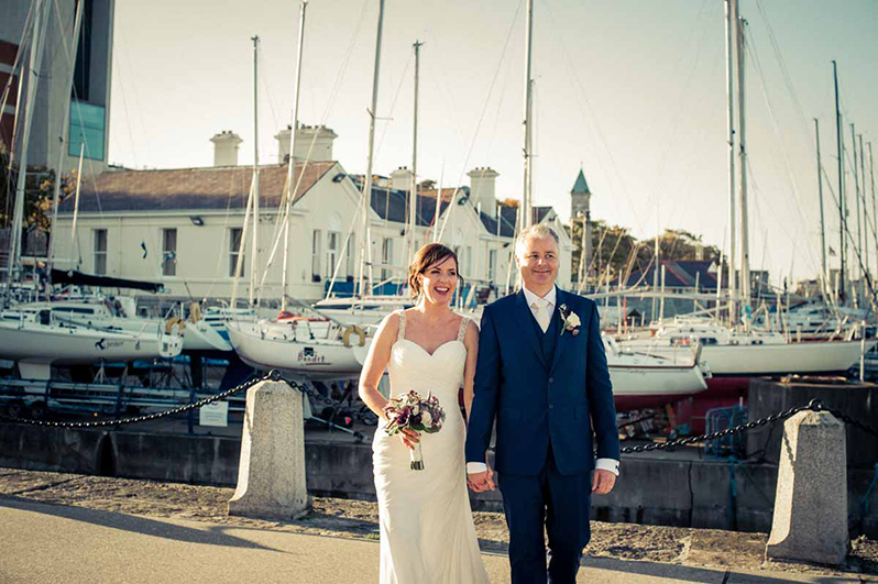 Wedding photo on Dun Laoghaire Pier