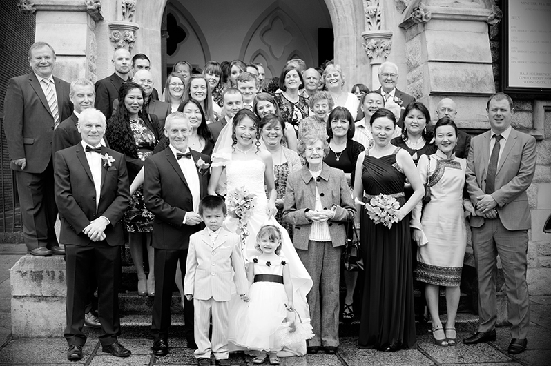 A Unitarian Church Wedding Photograph