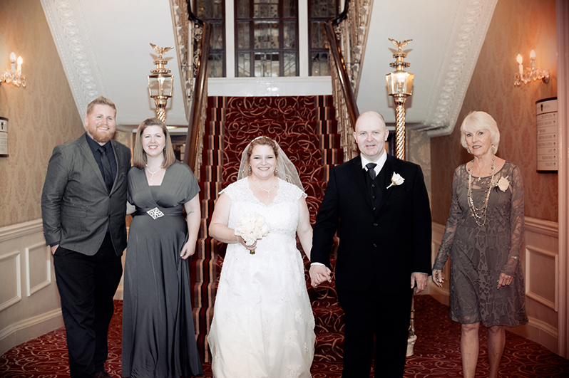A Wedding photograph at The Grand Hotel in  Dublin