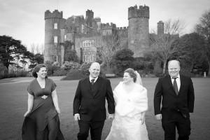 Bridal Party Photograph at Malahide Castle