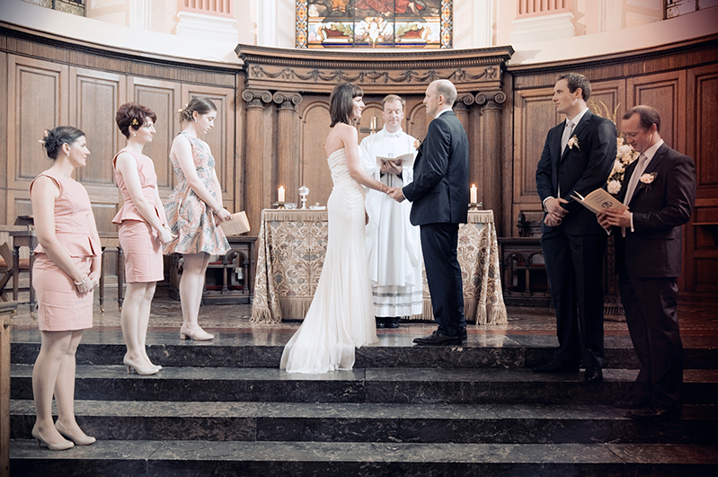 Wedding Ceremony at Trinity College Chapel in Dublin
