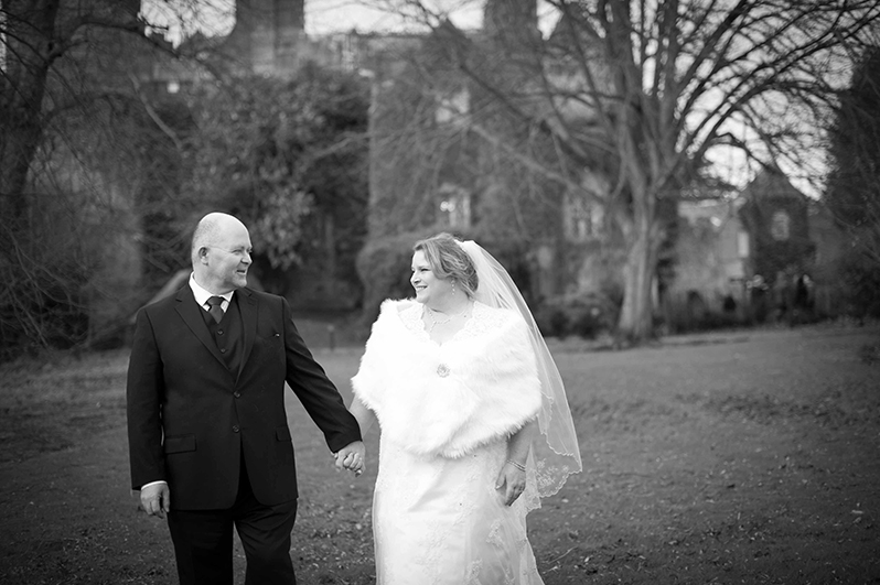 Wedding Photo in the grounds of Malahide Castle