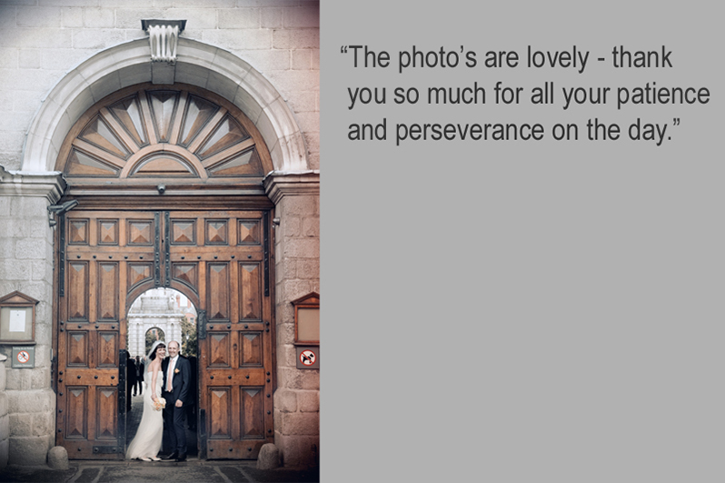 Wedding Photography at Trinity College Dublin