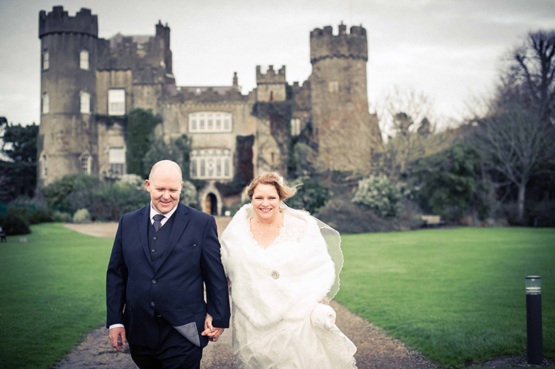 Wedding Picture at Malahide Castle