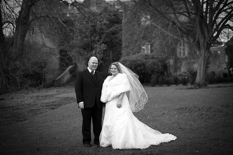 Wedding photograph at Malahide Castle